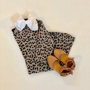 GAP Kids Gray Leopard Dress